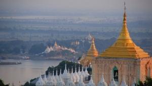 Mjanmar: Most, knjiga, manastir, brod, brdo